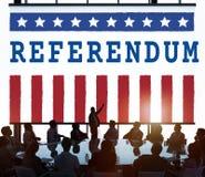 Conceito do voto da democracia do referendo do governo da política fotos de stock