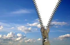 Conceito do Zipper imagem de stock