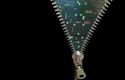 Conceito do Zipper Imagem de Stock Royalty Free