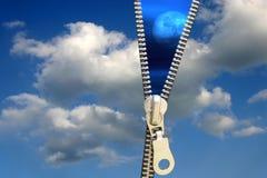 Conceito do Zipper fotos de stock royalty free