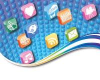 Conceito dos ícones do App Fotos de Stock