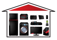 Conceito dos aparelhos electrodomésticos Imagem de Stock Royalty Free