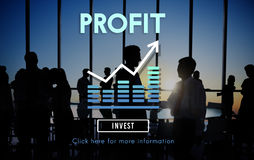 Conceito dos ativos do benefício da contabilidade do lucro ilustração do vetor