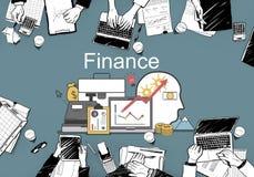 Conceito dos ativos do investimento do financiamento do lucro da finança ilustração do vetor