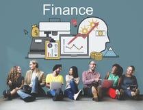 Conceito dos ativos do investimento do financiamento do lucro da finança foto de stock royalty free