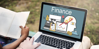 Conceito dos ativos do investimento do financiamento do lucro da finança imagens de stock royalty free
