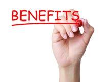 Conceito dos benefícios Fotos de Stock Royalty Free