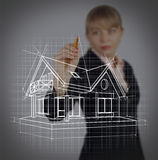 Conceito dos bens imobiliários Fotografia de Stock Royalty Free