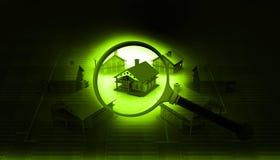 Conceito 6 dos bens imobiliários Imagem de Stock