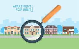 Conceito dos bens imobiliários com o número das casas de campo na rua Buyin Foto de Stock