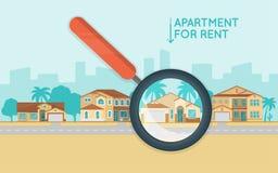 Conceito dos bens imobiliários com o número das casas de campo na rua Buyin Imagens de Stock