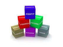 Conceito dos blocos do negócio e da finança Fotografia de Stock Royalty Free