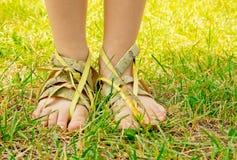 Conceito dos calçados da ecologia. Imagens de Stock Royalty Free