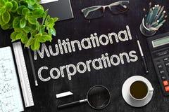 Conceito dos corporaçõs multinacionais 3d rendem Imagem de Stock Royalty Free