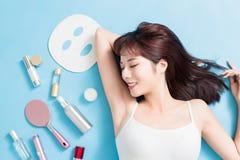 Conceito dos cuidados com a pele da beleza imagem de stock