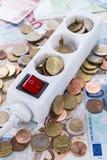 Conceito dos custos da energia Fotografia de Stock Royalty Free