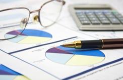 Conceito dos dados financeiros Imagens de Stock