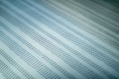 Conceito dos dados financeiros com números Fotografia de Stock