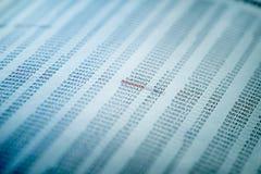 Conceito dos dados financeiros com números Foto de Stock