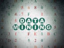 Conceito dos dados: Mineração de dados no papel de Digitas Imagens de Stock