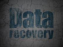 Conceito dos dados: Recuperação dos dados no fundo da parede do grunge Imagem de Stock Royalty Free