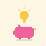 conceito dos desenhos animados da moeda do porco Fotografia de Stock Royalty Free
