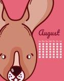 Conceito dos desenhos animados do coelho e do calendário Fotografia de Stock Royalty Free