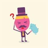 Conceito dos desenhos animados do homem de negócios Foto de Stock Royalty Free
