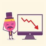 Conceito dos desenhos animados do homem de negócios Imagens de Stock Royalty Free