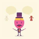 Conceito dos desenhos animados do homem de negócios Fotos de Stock