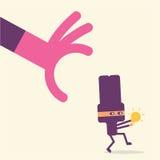 Conceito dos desenhos animados do homem de negócios Imagem de Stock