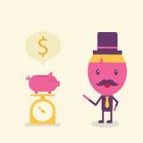 Conceito dos desenhos animados do homem de negócios Fotografia de Stock Royalty Free