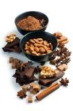 Conceito dos doces isolado Fotos de Stock Royalty Free