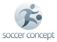 Conceito dos esportes do futebol ilustração do vetor