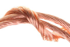 Conceito dos fios de cobre da indústria energética Fotografia de Stock