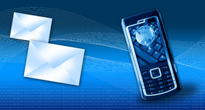 Conceito dos gprs do telefone móvel Fotografia de Stock Royalty Free