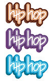 Conceito dos grafittis do hip-hop Ilustração Royalty Free