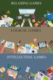 Conceito dos jogos de vídeo Fotos de Stock