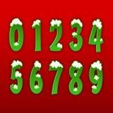 Conceito dos números de 0 a 9 Imagens de Stock