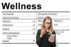 Conceito dos nutrientes dos cuidados médicos do bem-estar do suplemento à nutrição foto de stock royalty free