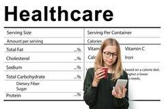 Conceito dos nutrientes dos cuidados médicos do bem-estar do suplemento à nutrição fotos de stock