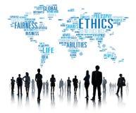 Conceito dos padrões das morais dos princípios dos ideais das éticas ilustração stock
