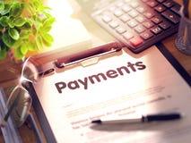 Conceito dos pagamentos na prancheta 3d Fotos de Stock