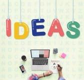Conceito dos pensamentos da estratégia da visão do projeto de plano das ideias Fotografia de Stock Royalty Free
