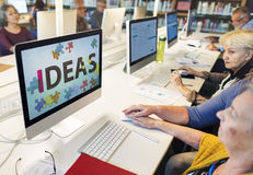 Conceito dos pensamentos das táticas da estratégia da proposta do projeto das ideias Fotografia de Stock