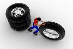 conceito dos pneumáticos das mulheres 3d Imagens de Stock Royalty Free