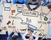 Conceito dos povos da nação da diversidade da afiliação étnica da cultura imagens de stock royalty free