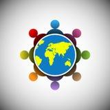 Conceito dos povos que conectam no mundo inteiro Imagem de Stock