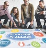 Conceito dos procedimentos do desenvolvimento da realização do plano de negócios Fotos de Stock Royalty Free