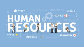 Conceito dos recursos humanos ilustração stock